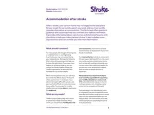 Image of accommodation after stroke publication