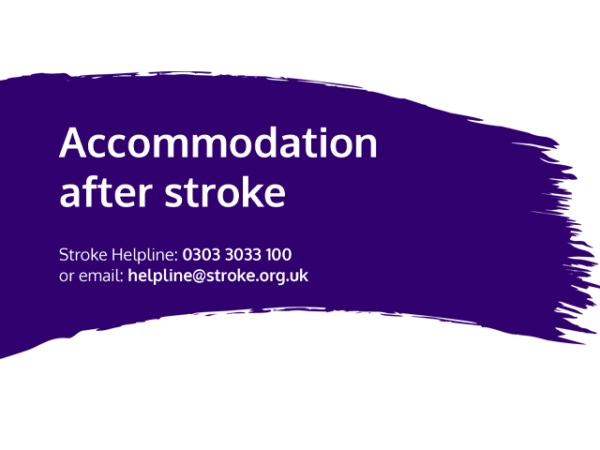 Guide heading screenshot. Text says - Accommodation after stroke