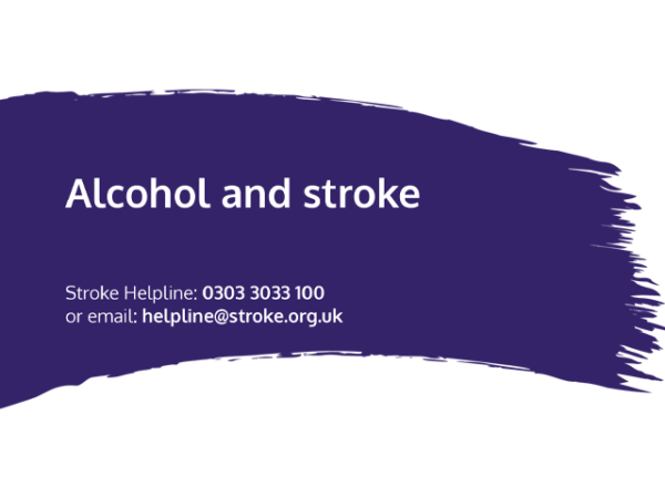 Guide heading screenshot. Text says - Alcohol and stroke