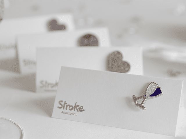 Image of Stroke Association wedding favours