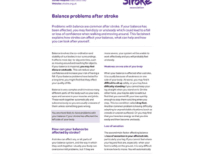 Image of balance problems after stroke publication