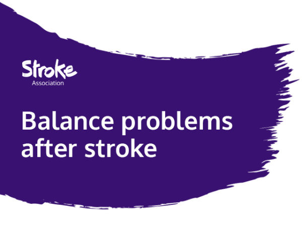 Text reads: balance problems after stroke