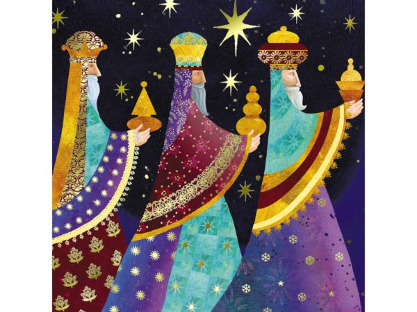 Image of Bearing gifts Christmas card – The 3 wise men from the Nativity, holding their gifts