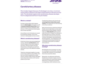 Image of carotid artery disease publication
