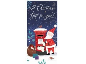 Image of Christmas Mail Money wallet – santa picking up the post at the North Pole.