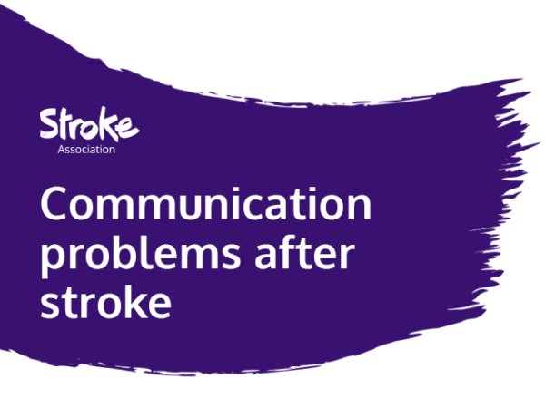 Text reads: Communication problems after a stroke