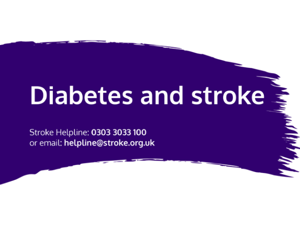 Guide heading screenshot. Text says - Diabetes and stroke