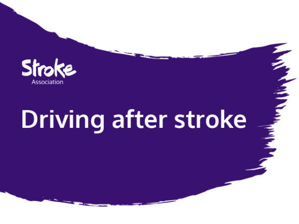 text reads: driving after stroke