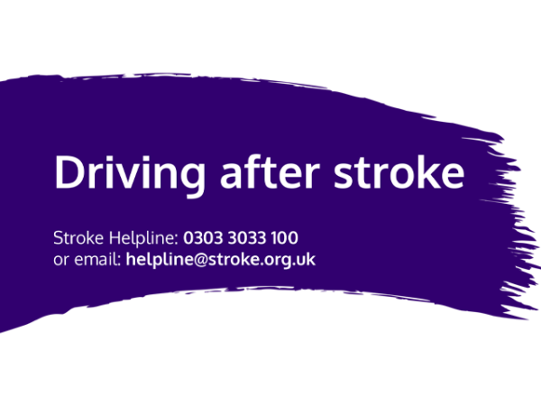 Guide heading screenshot. Text says - Driving after stroke