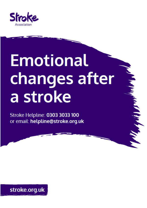 Emotional changes after a stroke cover