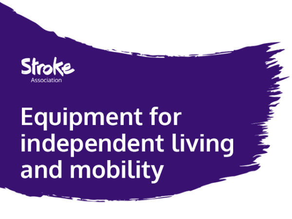 Text reads: equipment for independent living and mobility