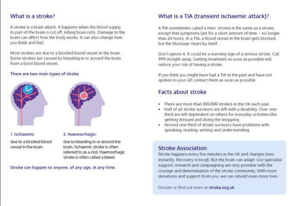 FAST A5 leaflet back