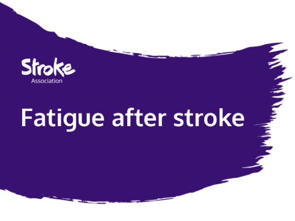 Text reads: fatigue after stroke