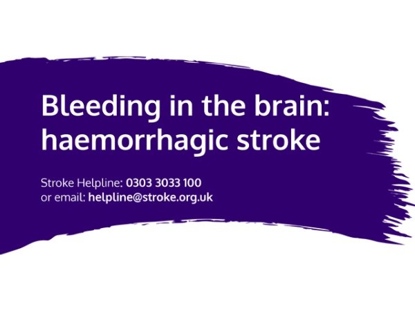Guide heading screenshot. Text says - Haemorrhagic stroke – Bleeding in the brain