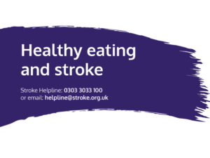Guide heading screenshot. Text says - Healthy eating and stroke