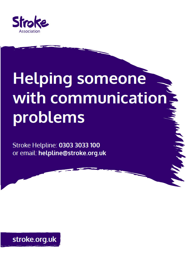 Image of helping someone with communication problems publication