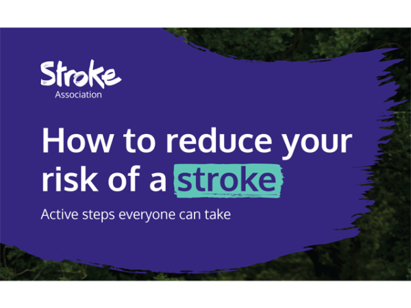 Guide heading screenshot. Text says - How to reduce your risk of a stroke