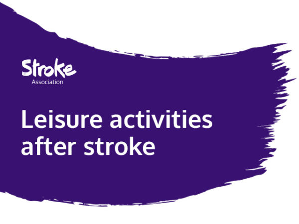 Text reads: leisure activities after stroke