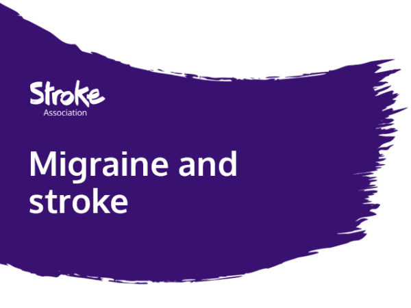 Text reads: migraine and stroke