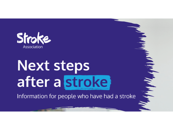 Guide heading screenshot. Text says - Next steps after a stroke