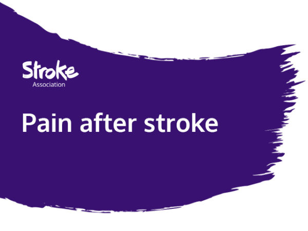 Text reads: pain after stroke