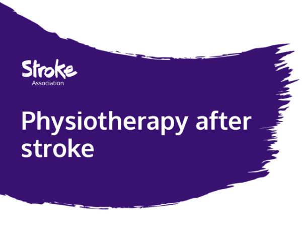 Text reads: physiotherapy after stroke