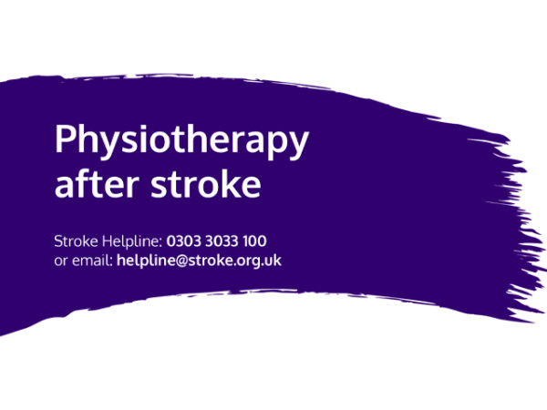Guide heading screenshot. Text says - Physiotherapy after stroke