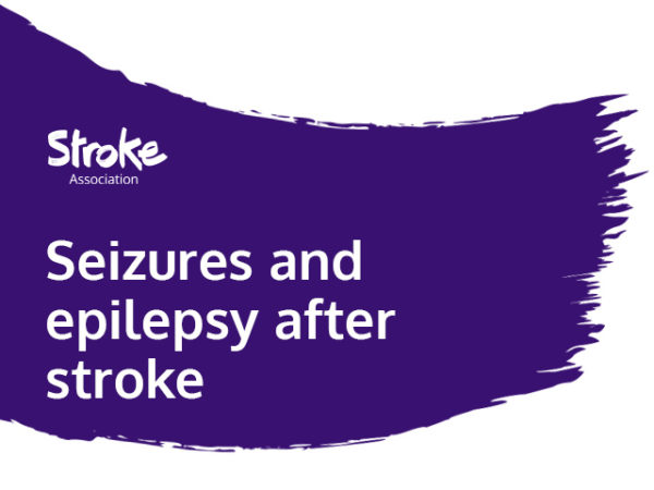 Text reads: seizures and epilepsy after stroke