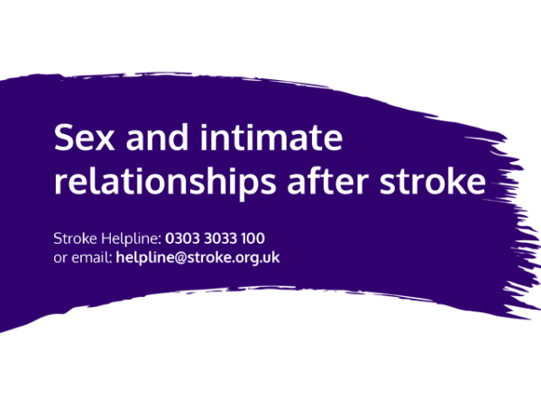 Guide heading screenshot. Text says - Sex after stroke
