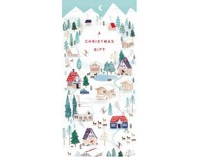 Image of Ski Resort Money Wallet – skiing on the slopes at Christmas