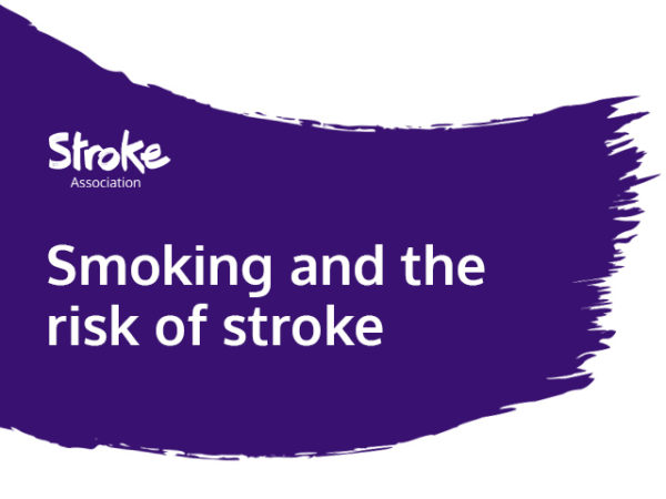 Text reads: smoking and the risk of stroke