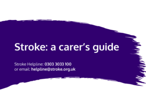Guide heading screenshot. Text says - Stroke: A carer's guide