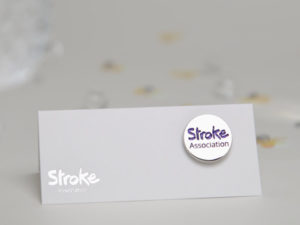 Image of Stroke Association logo pin badge