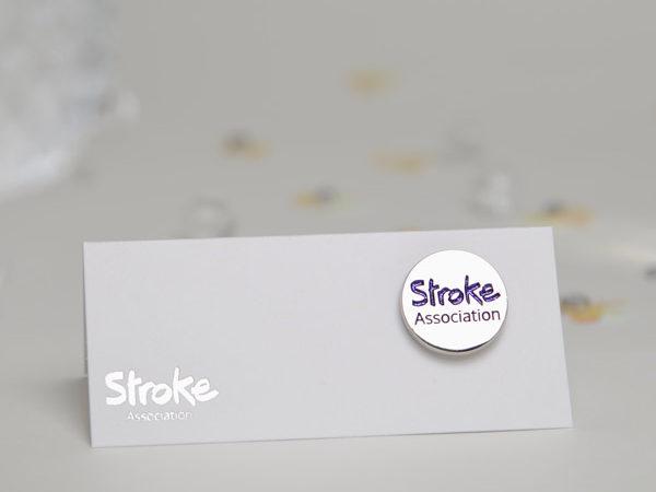 Image of Stroke Association logo pin badge