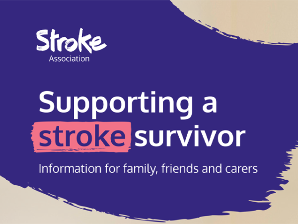 Guide heading screenshot. Text says - Supporting a stroke survivor