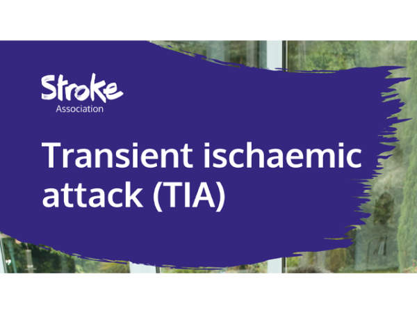 Guide heading screenshot. Text says - Transient ischaemic attack