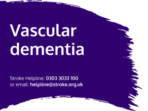 Guide heading screenshot. Text says - Vascular dementia