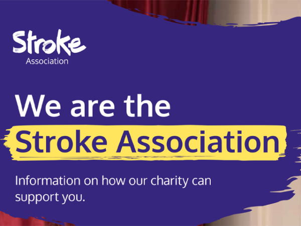 Guide heading screenshot. Text says - We are the Stroke Association