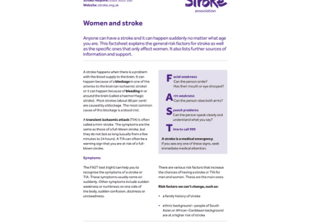 Image of women and stroke publication
