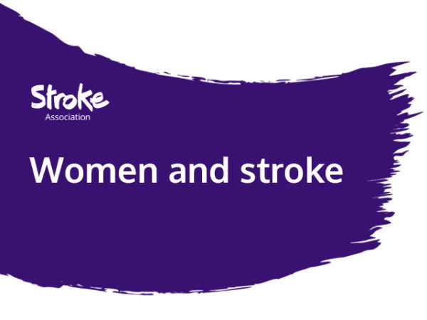 Text reads: women and stroke