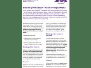 Image of Haemorrhagic stroke - Bleeding in the brain publication