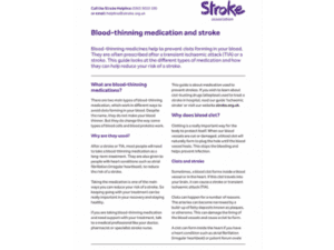 Image of blood-thinning medication and stroke publication