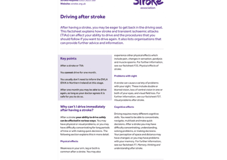 Image of driving after stroke publication