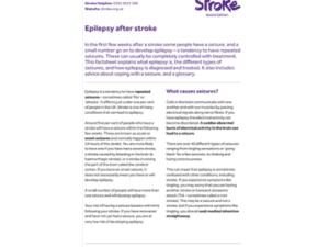 Image of epilepsy after stroke guide