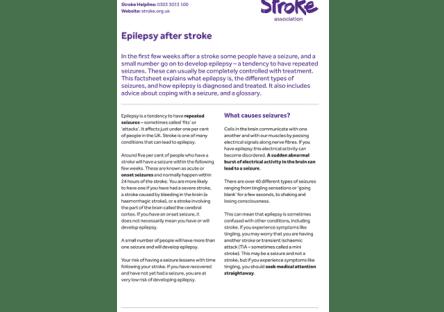 Image of epilepsy after stroke guide
