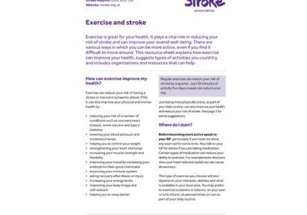 Image of exercise and stroke guide