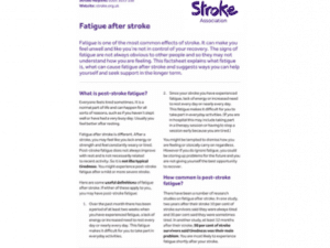 Image of fatigue after stroke publication
