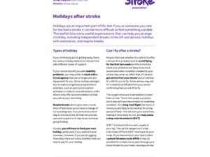 Image of holidays after stroke publication