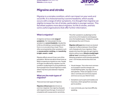 Image of migraine and stroke publication