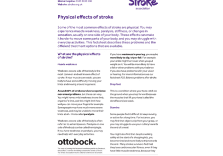 Image of physical effects of stroke publication